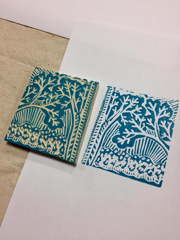 Lino Block Carving