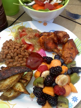 "Potluck = meal will not look ""exactly"" like this!"