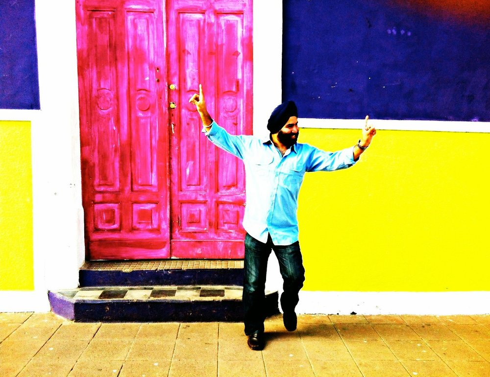And why not have a colorful photo of a happy Sikh guy?