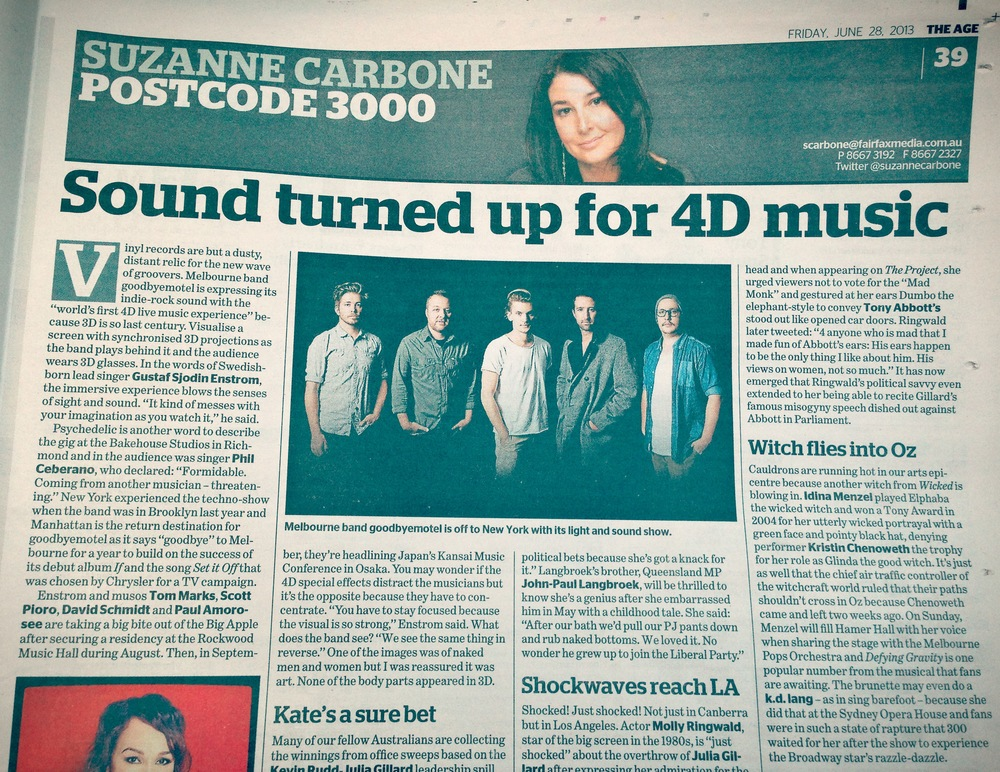 goodbyemotel's 4D live music experience - The Age - Postcode 300 - Suzanne Carbone