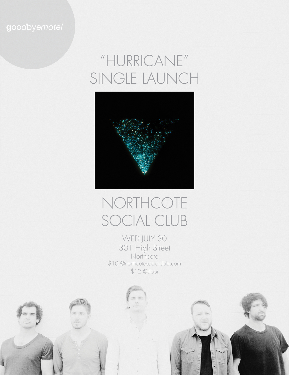 Northcote Social Club - Hurricane Single Poster - 30th July 2014.jpeg