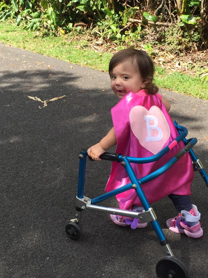 Sweet princess Bristol….showing her strength in more ways than 1.