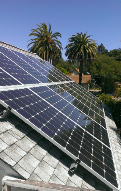 14-panels, SolarWorld 260 Watt panels, System size = 3.64 kW    Annual production = 5100 kWh;  52% energy usage coverage.    Petaluma, CA
