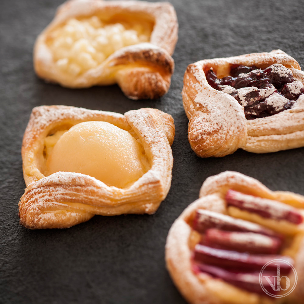 Seasonal Danishes: Apple, Pear, Berry & Rhubarb