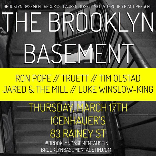 Going to SXSW in Austin this year? Lucky you! Make sure to check out The Brooklyn Basement on Rainey Street!! Bringing all the best bands from BK and beyond to Austin.  #brooklyn #austin #sxsw #sxsw2016 #bk #musiclife #ronpope #newmusic