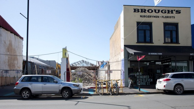 The demolished site next to the Bridge Street Collective.Marion van Dijk / Fairfax NZ