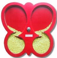 Rød sommerfugl aktivitetsplate