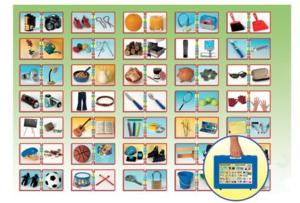 Spill, puslespill og borrelåsfigurer