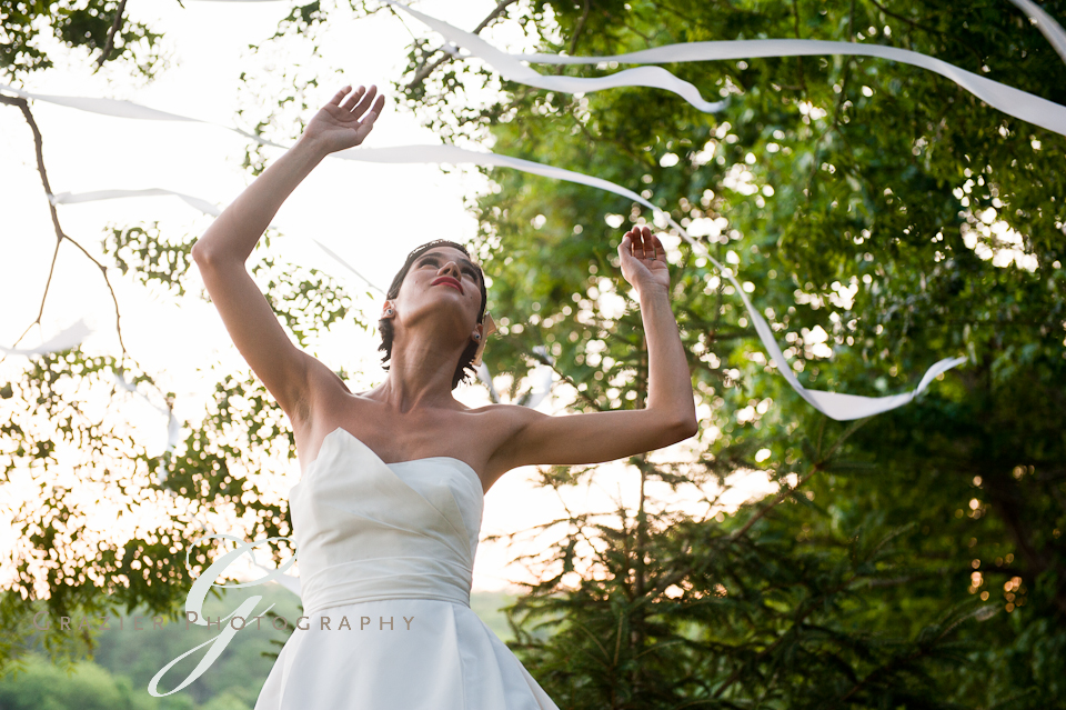 Bride with Streamers