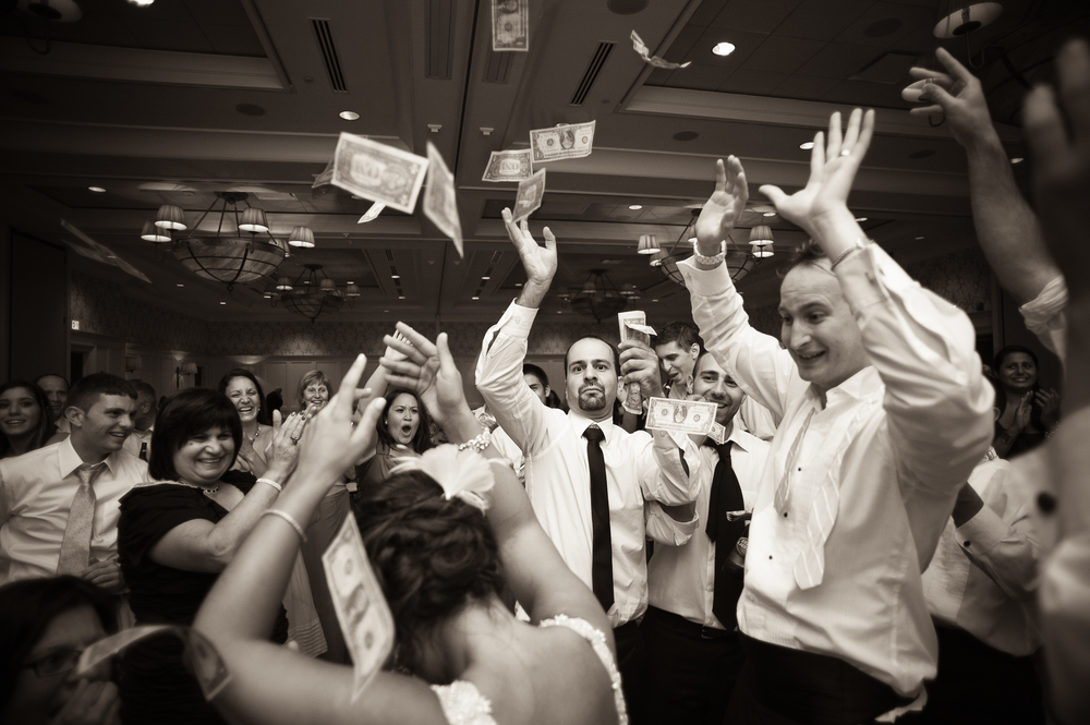 money dance wedding photo
