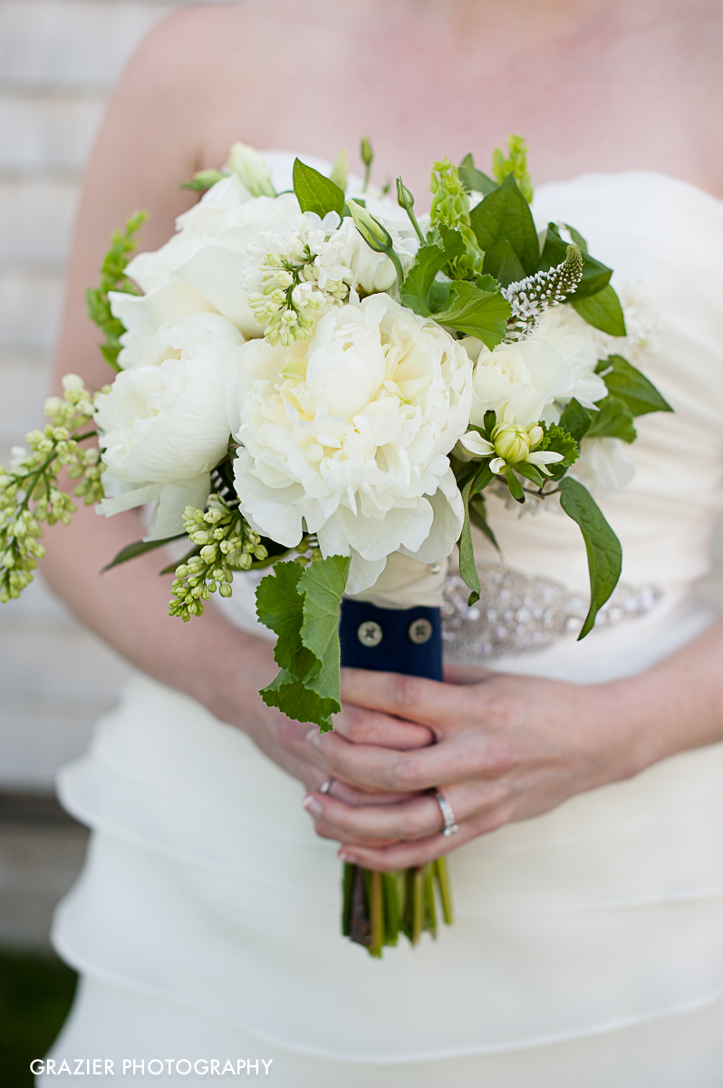 Wedding day flowers by the Flower Kiosk, Portsmouth NH - Wentworth by the Sea Country Club wedding, photographed by Grazier Photography
