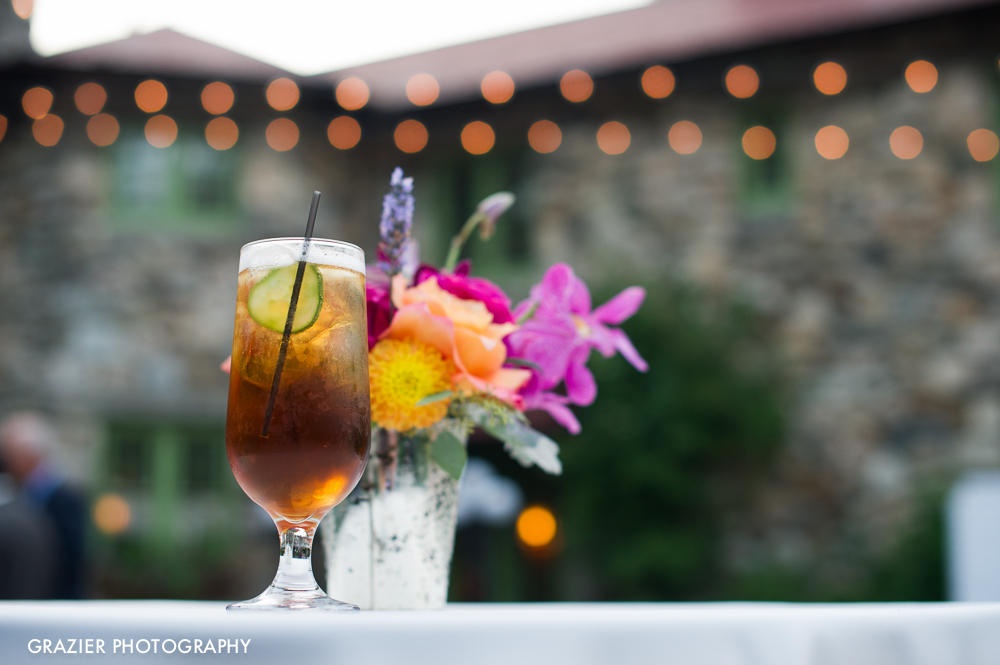 Pimm's Cup: perfect summer wedding cocktail! a Willowdale Estate Wedding by Grazier Photography