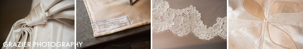 beautiful vwidon dress detail and other heirloom wedding gown details #bostonwedding #waterworkswedding by Grazier Photography