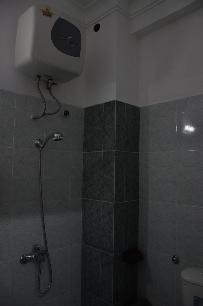 Hot water and functional toilet.