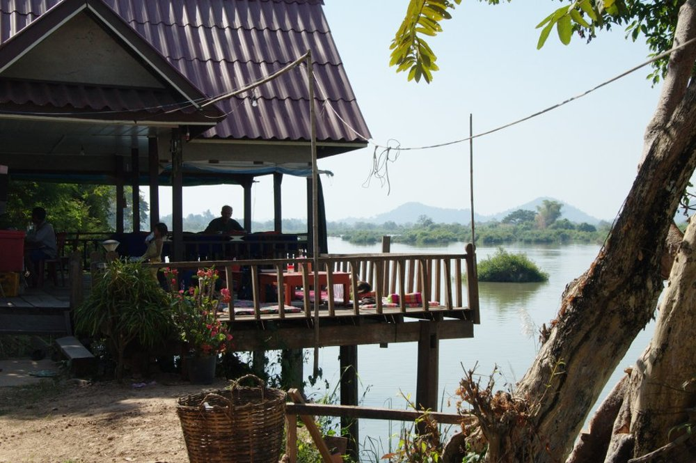 Full bar and restaurant overlooking the mighty Mekong.