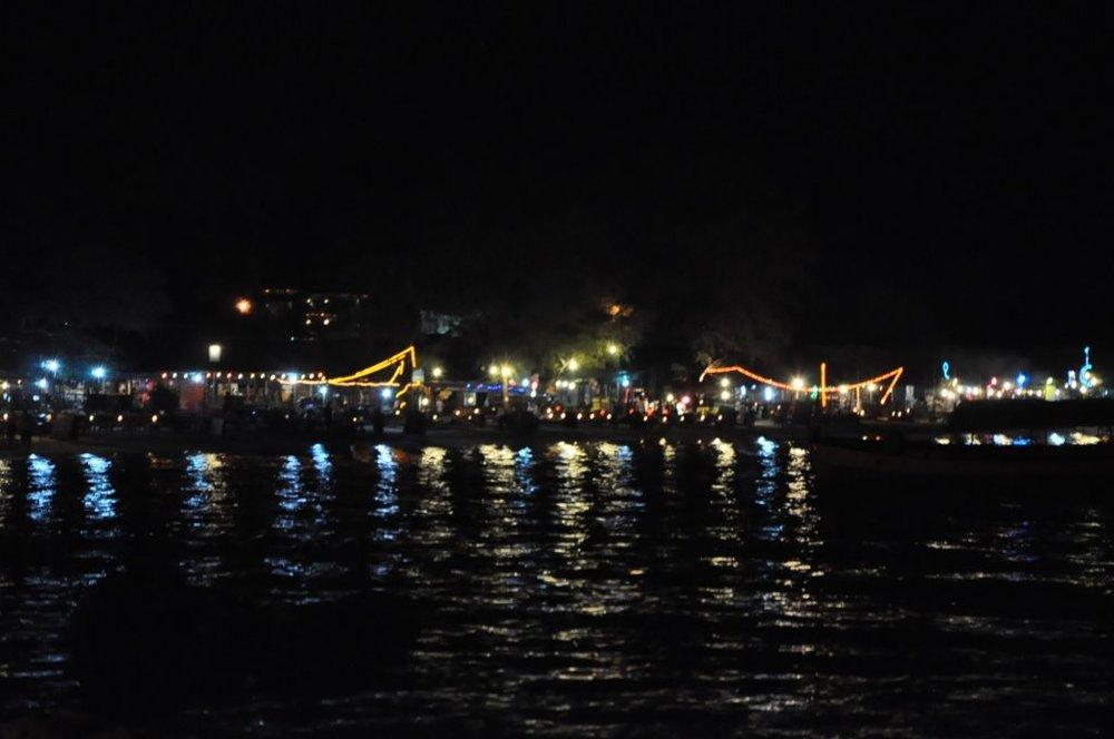 Serendipity beach at night.