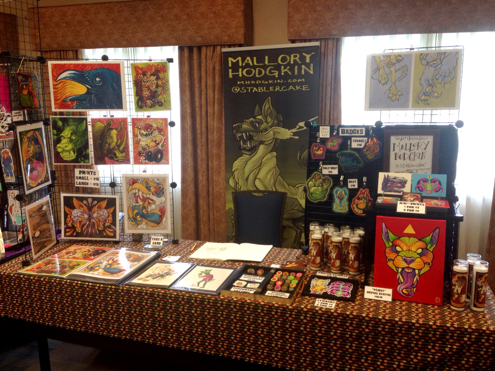 My table at AnthrOhio!