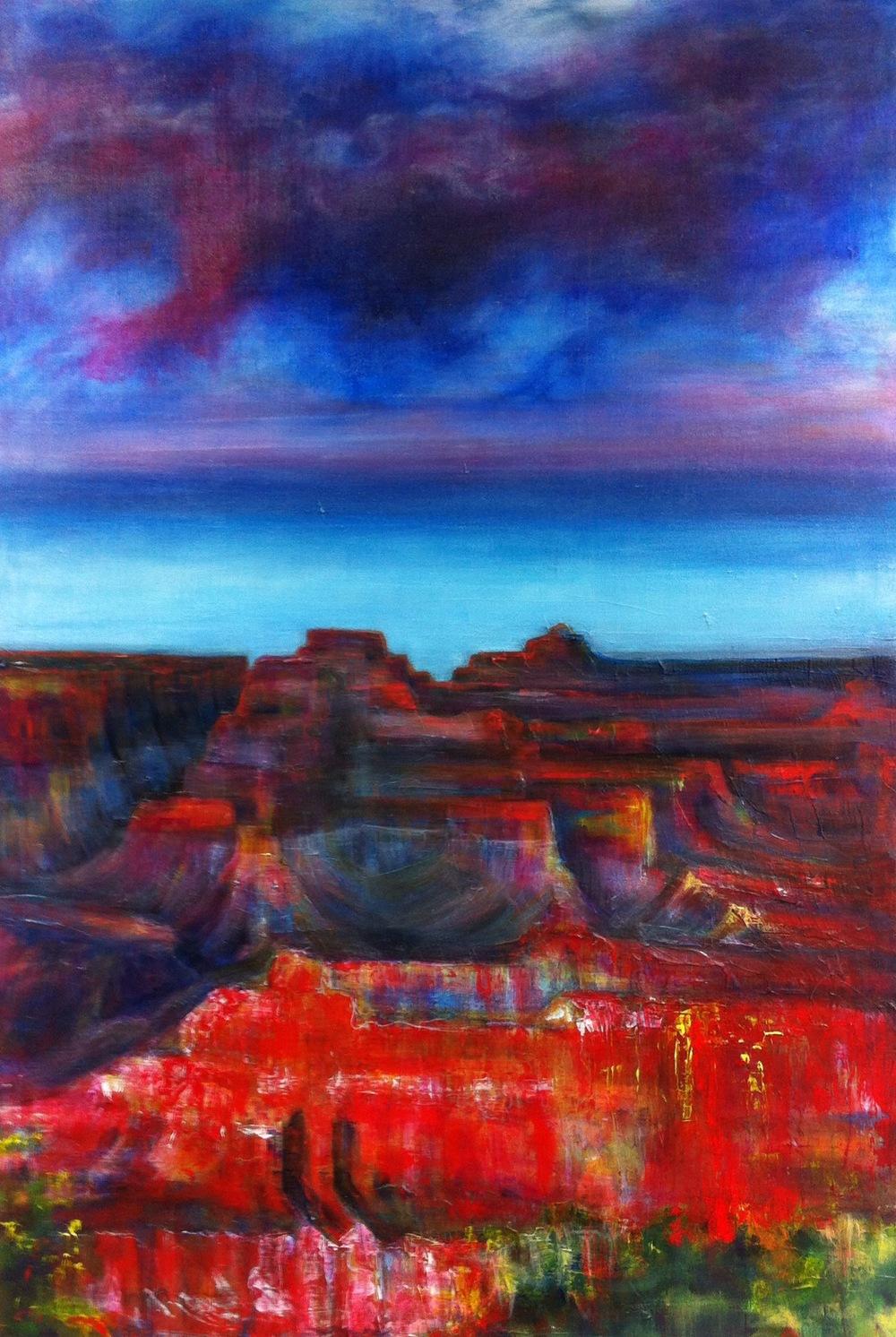 Canyons No. 2 acrylic L. Merriman $650