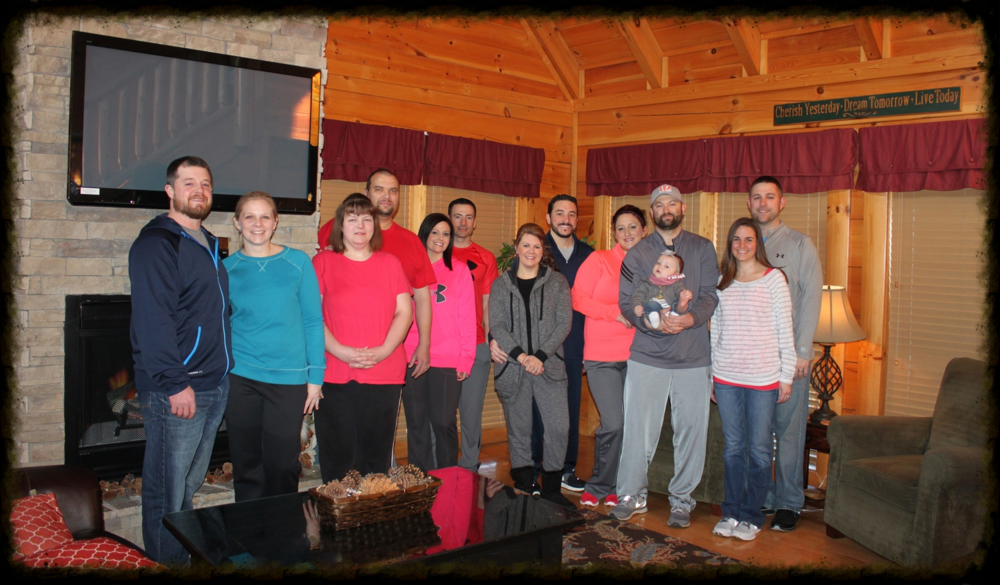 Photo taken from a recent couples retreat in Tennessee.    Note: Not everyone could make this trip, there are usually more.....
