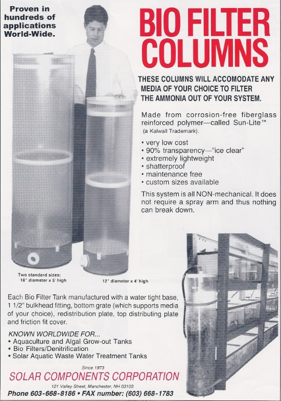 We have a full line of bio filters (bio towers) that can be customized to suit your needs.