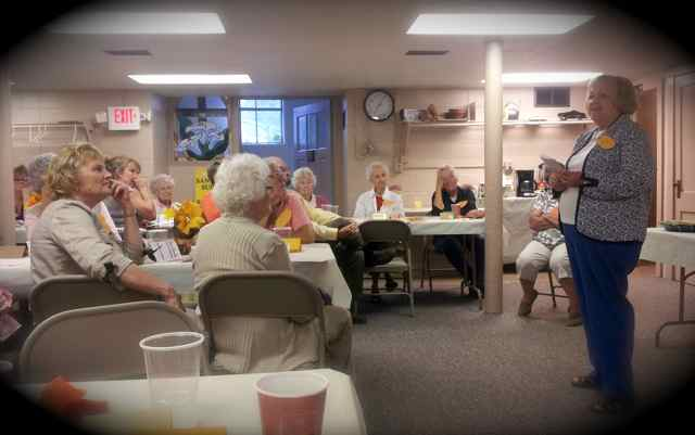 Chris speaking to the women's group at the Annual Invitational of Liberty United Methodist Church.  We would be happy to provide a program speaker to your club or organization to talk about  Baskets of Life.