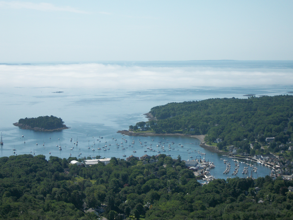 The view from Mount Battie, Camden, Maine.