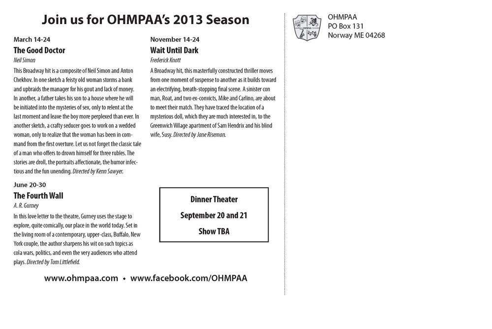 OHMPAA 2013 Postcard 2