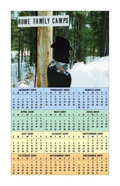 Rowe Family Camps calendar card