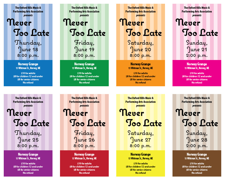 Never Too Late tickets