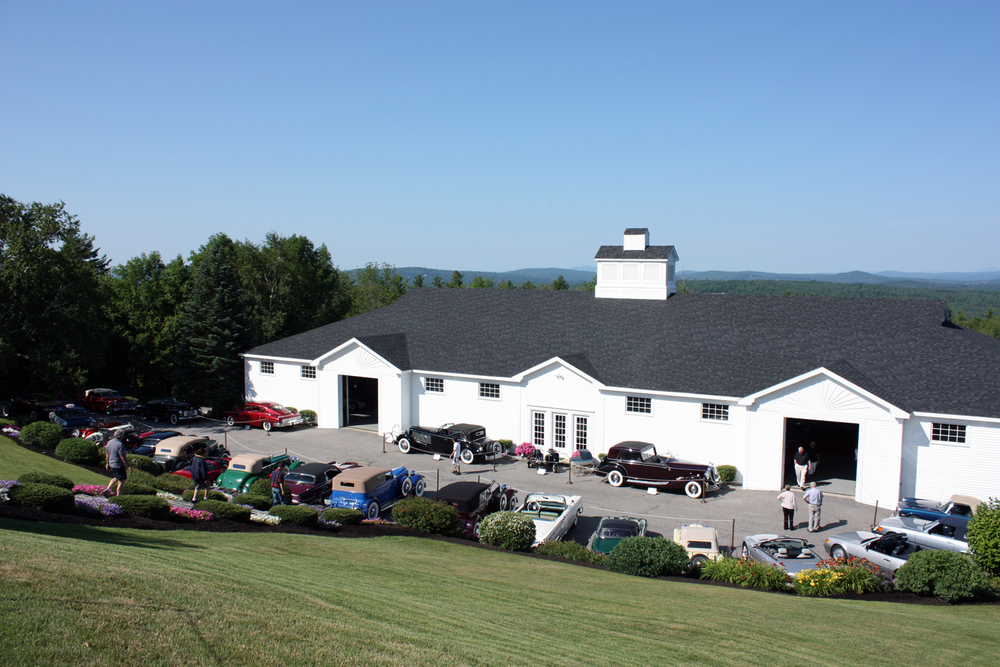 A view of the lower car barn on Founders Day. Don't miss the upper car barn at the top of the hill.