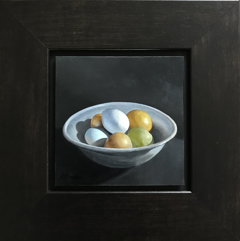 Eggs in a Blue Bowl  II