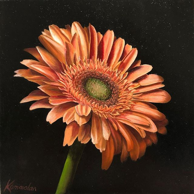 """Peach Memories"". 5""x5"". Oil on panel. A commission. Thank you DHF!"