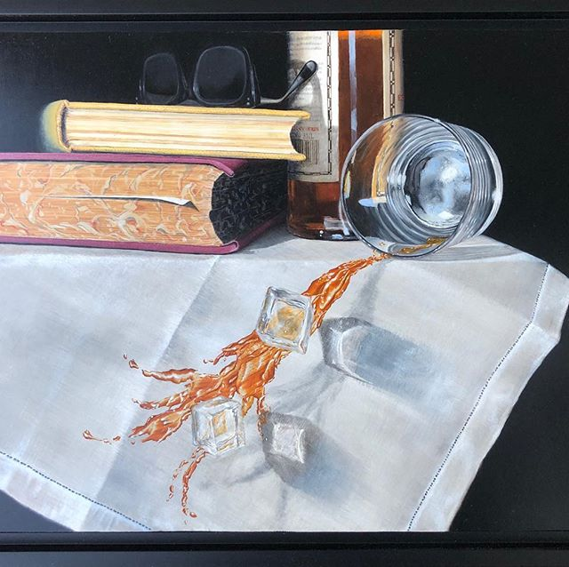 "My painting is going to the Mitchell Gallery at St. John's College for the Image & Imagination: Anne Arundel County Juried Exhibition of 2019.  The show will be open May 23-June 9.  Reception May 23 5-6:30pm ""Wasted"". Oil on panel, 12""x16""."