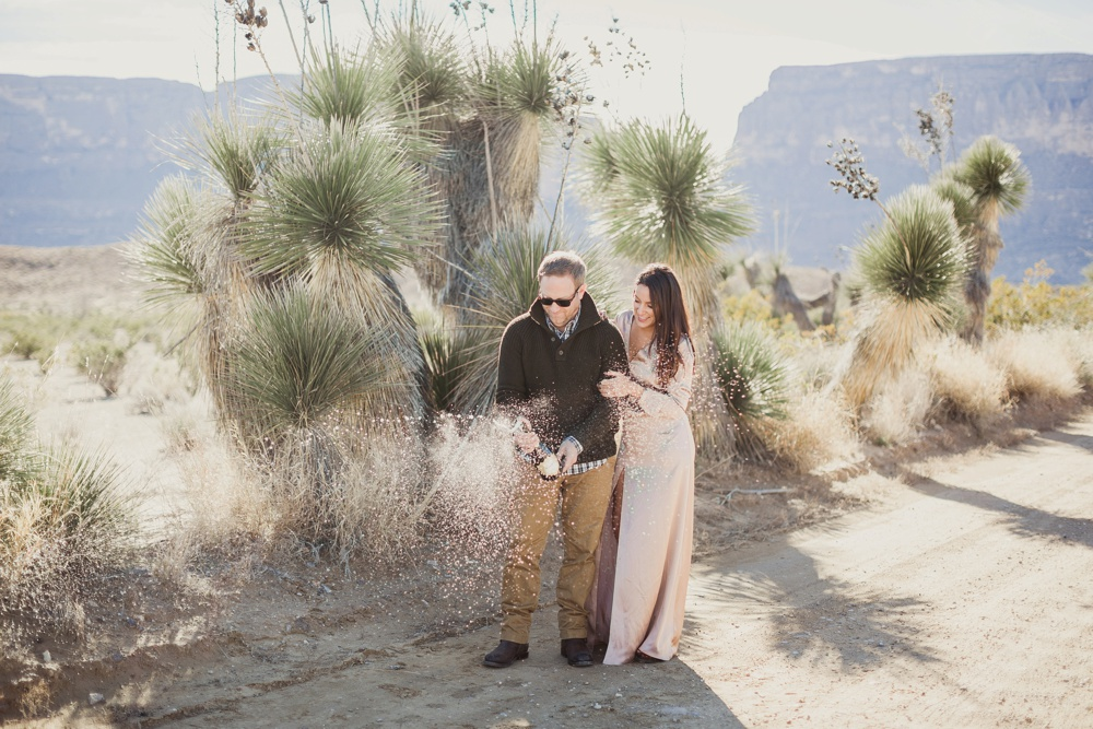 Raquel and Shane's Big Bend Destination Engagement Session