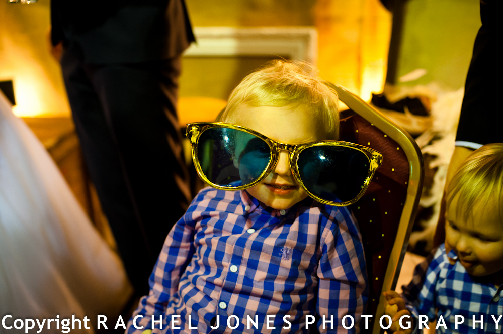 Martyn's nephew looking cool in the fancy dress photobooth.