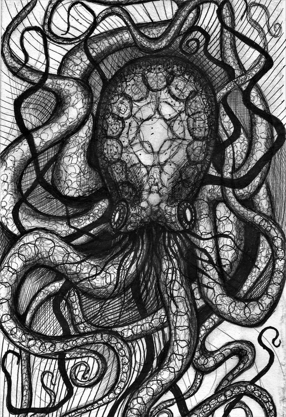 (Octopus) pen on paper
