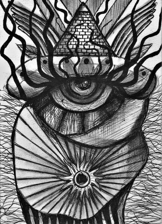 (Third Eye) pen on paper