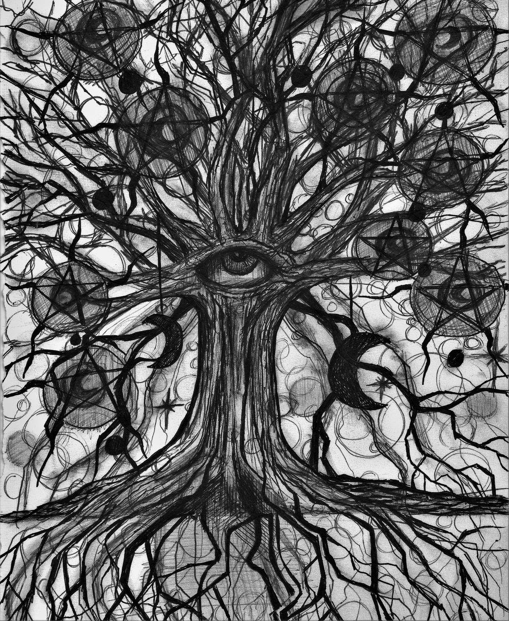 (Tree) pen on paper