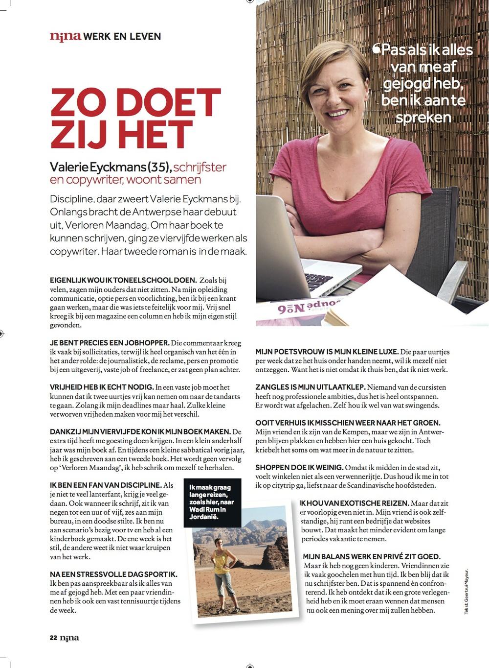 Nina (Het Laatste Nieuws) 18 mei 2013