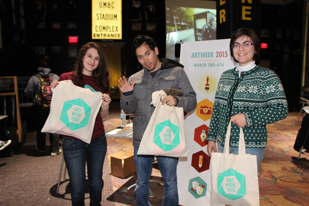 Here are the winners with their ArtWeek swag bags!