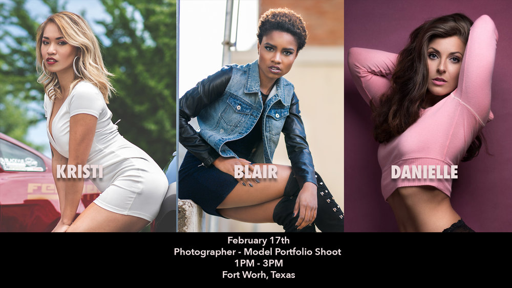 Our first outdoor workshop of 2018 and we have three amazing models! If you are a photographer who is trying to build up their portfolio this is workshop for you. If your choice is natural light or off camera flash photography this location will accomadate both. Register early to guarantee your spot because we will sell out quick.