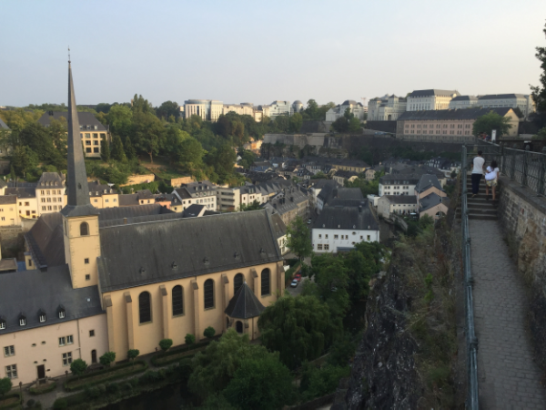 One of Bob's favourite views of Luxembourg: Abbeye de Neumünster