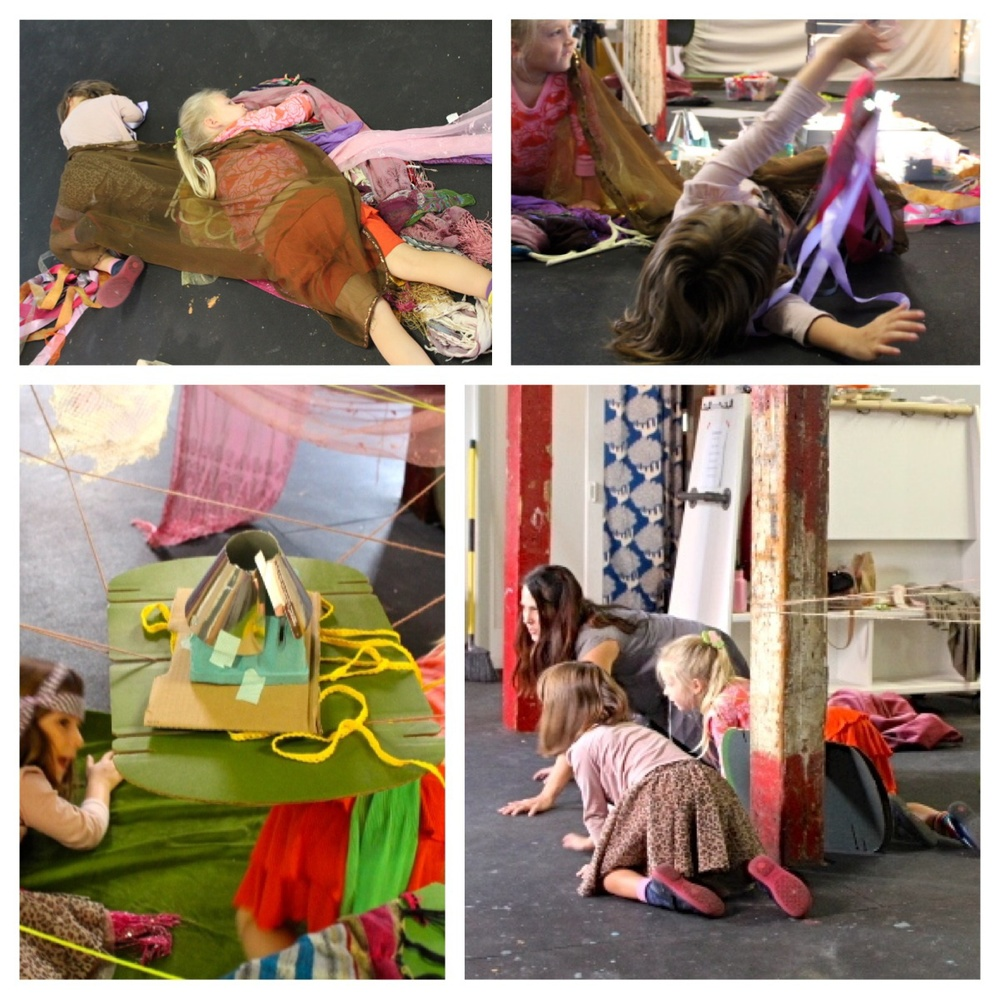 Rolling, crawling, creeping, sleeping, hiding, exploring...children help to improvise and move through the vocabulary of the movement story.