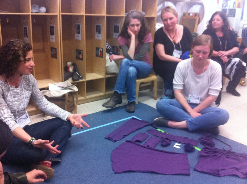 "Jennifer Azzariti's workshop featured many cast-off articles of clothing, awaiting de-and re-construction. To Brenna Hatcher, teacher at Barrow St Nursery: ""The essence of shirtness is still there."""