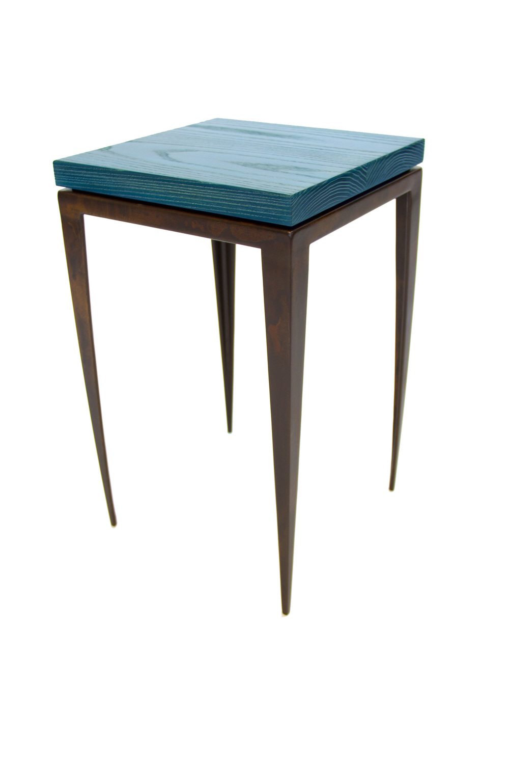 Blue Ceruse End Table
