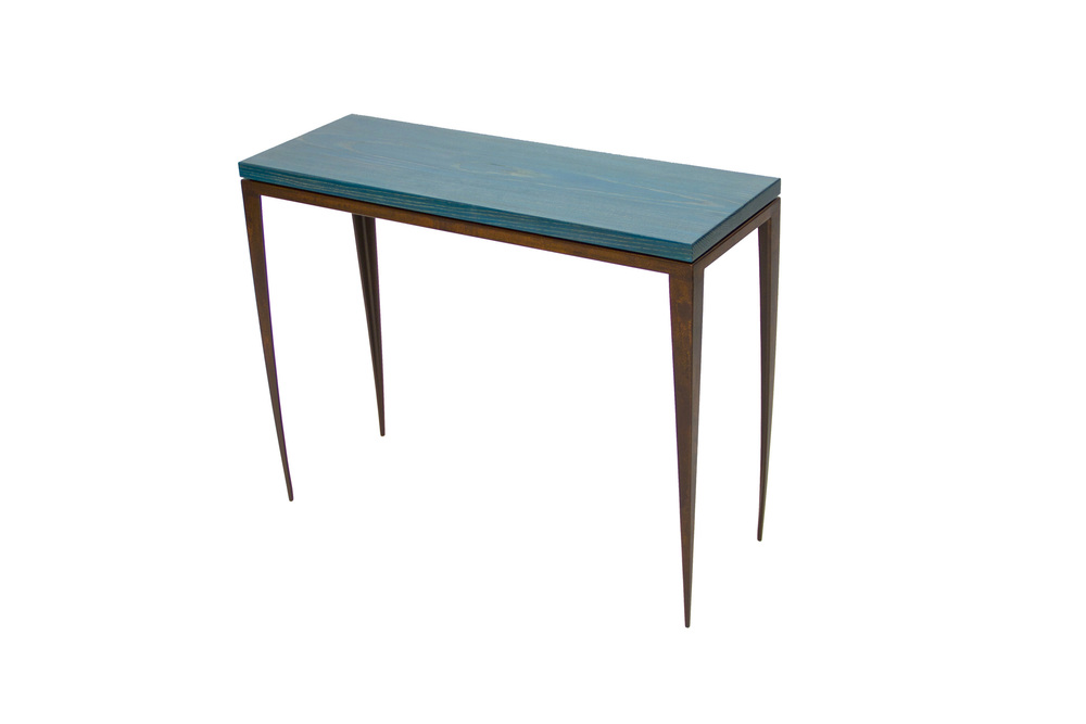 Blue Ceruse Console Table — Custom Metal Work and Welding Classes ...