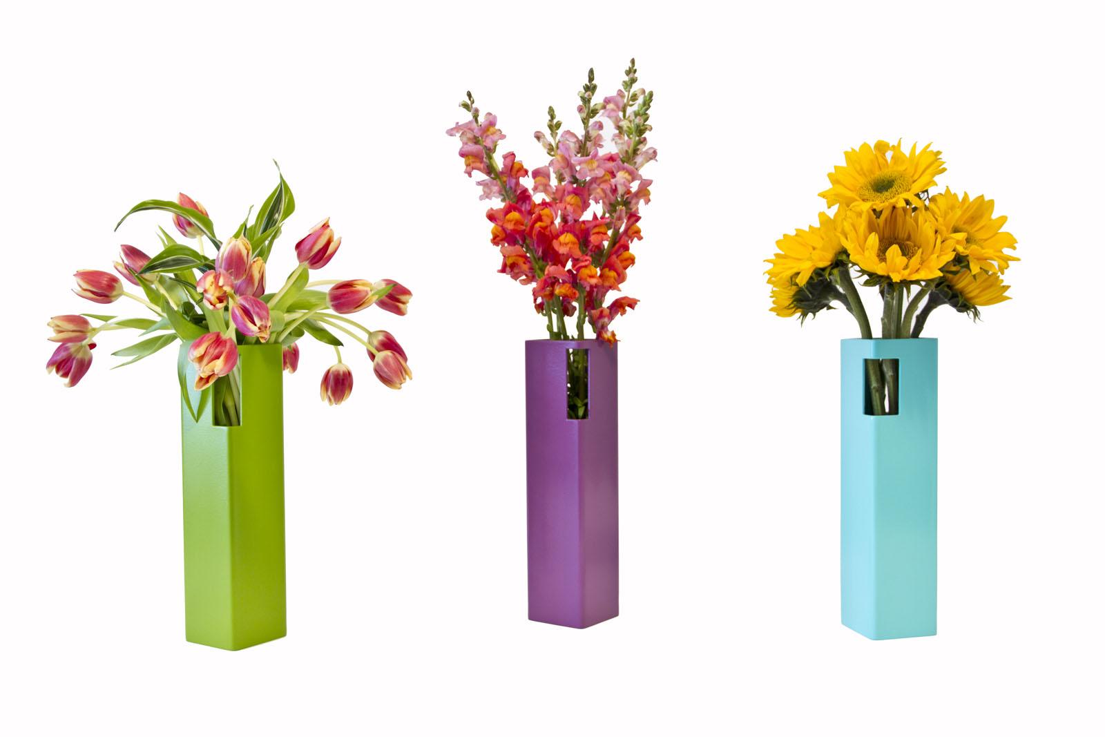 New Colorful Vases In Bright Spring Hues Custom Metal