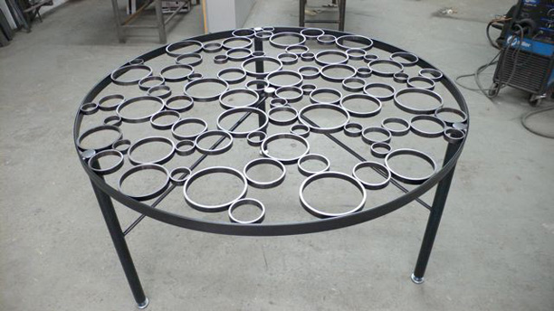 Statuto Ring Dining Table before glass top