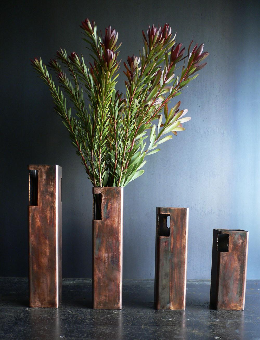Sandstone Patina Flower Vases