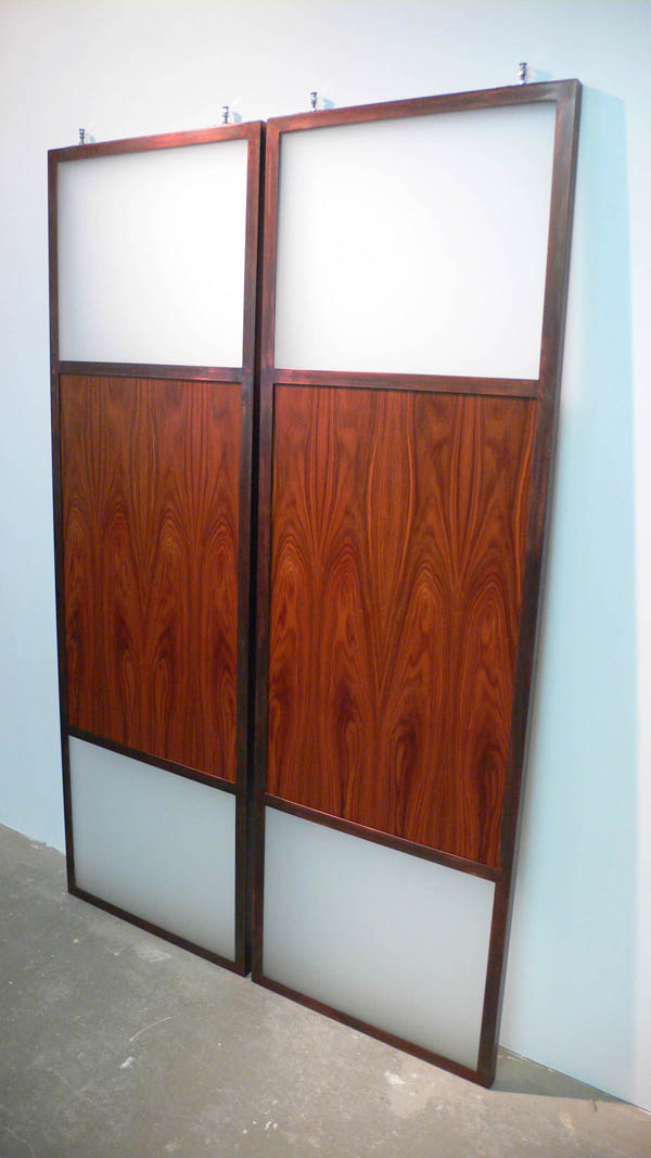 A photo of the finished sliding doors for my bedroom closet